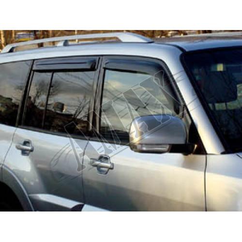 Дефлекторы дверей (ветровики) Mitsubishi Pajero IV