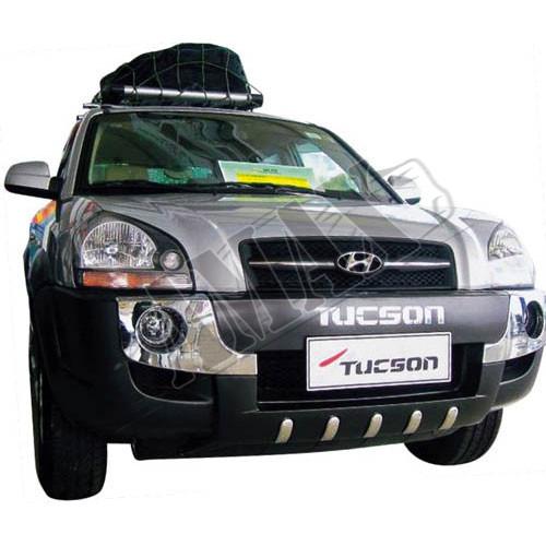 Накладка переднего бампера с лого (пластик), Хюндай Туксон_Hyundai Tucson (2004-2010)