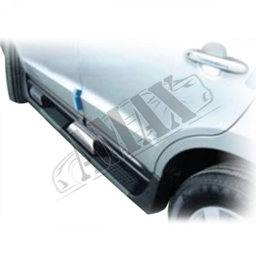 Пороги боковые оригинальный дизайн (пластиковые), Хюндай Санта ФЕ_Hyundai Santa FE (2006-2012)