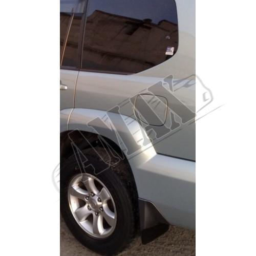 Брызговики черного цвета - 4 шт - Toyota Land Cruiser Prado 120 (2003-2008)_Тойота Прадо 120