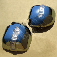 Хром на зеркала (с повторителями поворотов) Митсубиси Паджеро Вагон_ Mitsubishi Pajero Wagon 3 (2001-2006)