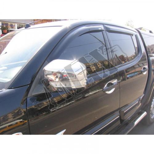 Дефлекторы дверей (ветровики) Mitsubishi L200