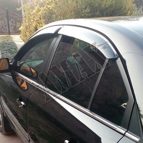 Дефлекторы дверей (ветровики) для Hyundai Sonata NF