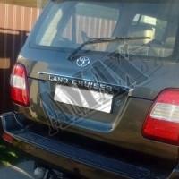 Планка над номером (черная и серебро) Тойота Ленд Крузер_Toyota Land Cruiser 100 (1998-2007)