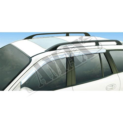 Дефлекторы дверей (ветровики), в хроме, на Hyundai Santa Fe