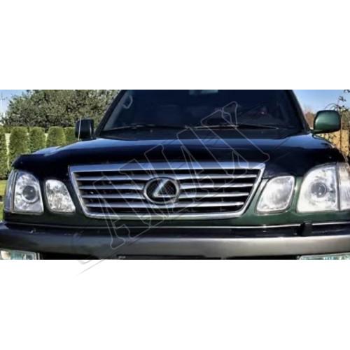 Дефлектор капота (мухобойка) Лексус ЛХ_Lexus LX 470 (1998-2007)