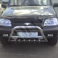 Защитная дуга переднего бампера (кенгурятник) для Chevrolet Niva