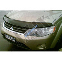 Дефлектор капота (мухобойка) с логотипо Mitsubishi