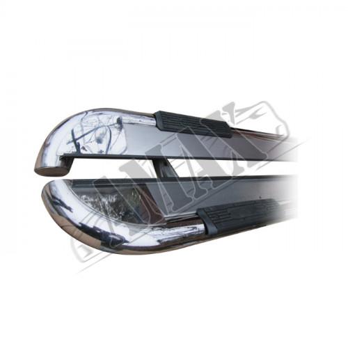 Пороги боковые (площадкой) для Peugeot Partner