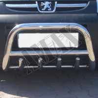 Защитная дуга переднего бампера (кенгурятник) для Peugeot Partner