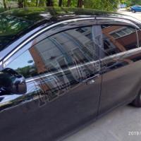 Дефлекторы боковых окон (ветровики) с хромовой окантовкой Тойота Камри_Toyota Camry 40 (2006-2011)