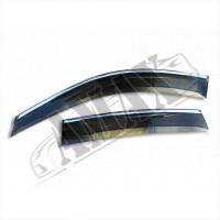 Дефлекторы окон (ветровики) с хромовой окантовкой на Honda CRV (07-11)