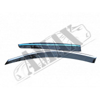 Дефлекторы оконные с хромовым кантом для Honda Accord USA - ветровики
