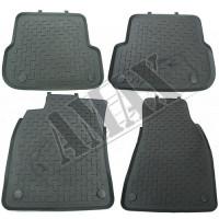 Коврики резиновые в салон (2 цвета, комплект: 4 штуки) для Audi A6