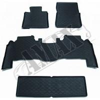 Коврики резиновые в салон (черные, комплект: 4 штуки) Лексус_Lexus LX570 (2008-2020)