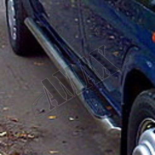 Пороги боковые (трубы, с приступом под ноги) для Ford Transit