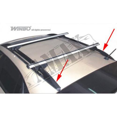 Рейлинги продольные на крышу Toyota Fortuner - черные