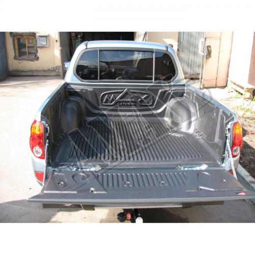 Ковер в багажник (корыто), крепеж под борт, Митцубиси Л200_ Mitsubishi L200 (2011-2015)