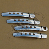Хром на ручки дверей с отверстиями (нержавейка)