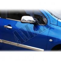 Хром на зеркала для Peugeot 307