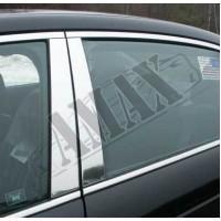 Хром накладки на стойки для Audi A6