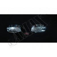 Хром на зеркала с повторителями поворотов для Audi A6
