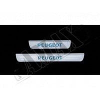 Накладки на пороги (с подсветкой, BlueLight) для Peugeot 307