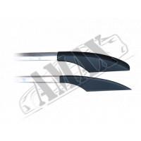 Рейлинги (алюминий + металлические концевики) для Fiat Doblo (2001 - 2009)