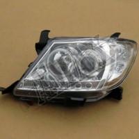 Передние фары (хром) на Hilux: ANGEL EYES + LED DRL Тойота Хайлюкс_Toyota Hilux (2006-2010)