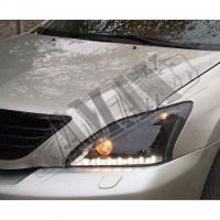Передние фары черные (2 линзы + LED DRL) Лексус РХ_Lexus RX-300 / 330 / 350 (2003-2009)