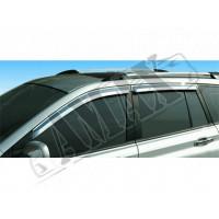 Дефлекторы окон: хромированные ветровики для SsangYong Kyron