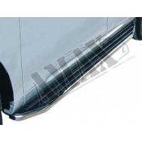 Пороги боковые площадкой для Audi Q7
