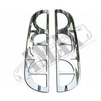 Хром на задние фонари (нержавейка) для Fiat Doblo (2006 - 2009)