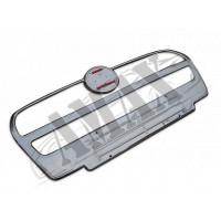 Накладка на решетку радиатора 1 шт (нержавейка) для Fiat Doblo (2010 - ...)
