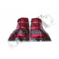 Задние фонари (диодные, темные) + хром кант на Prado 150