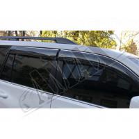 Дефлекторы дверей (ветровики) с хром молдингом (кантом)_Toyota Land Cruiser Prado 150 (09+)