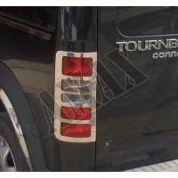 Хром на задние фонари (нержавейка) для Tourneo Connect