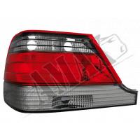 Задние фонари - лампочка -  (темные) с планкой для на Mercedes s-class W140