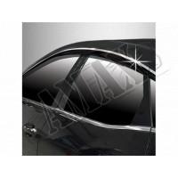 Дефлекторы дверей с хромовой вставкой - ветровики - для Mazda 6