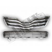 Решетка радиатора и бампера (Оригинал-хром), Тойота Камри_Toyota Camry 40 (2010-2012)