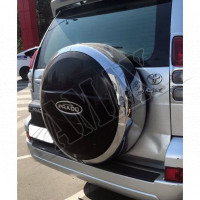 Чехол запасного колеса (пластик-хром) Тойота Ленд Крузер Прадо_Toyota Land Cruiser Prado 120 (2003-2008)
