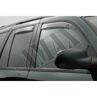 Боковые дефлекторы окон (ветровики) - черные - для Toyota Highlender