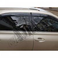 Дефлекторы окон с хромированным молдингом  - ветровики - Лексус РХ_Lexus RX-350 (2010-2015)