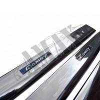 Молдинги дверей (хромированные), Тойота Камри_Toyota Camry 50 (2012-2014)