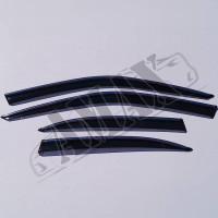 Дефлекторы на боковые окна с хром-молдингом для BMW 5-Seria E39 (96-04): ветровики