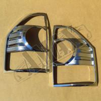 Хром на задние фонари, Митсубиси Паджеро Вагон_ Mitsubishi Pajero Wagon 3 (2001-2006)