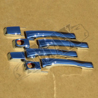 Хром на ручки дверей (ABS-пластик) Митсубиси Паджеро_ Mitsubishi Pajero