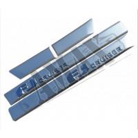 Молдинги дверей (серебро) с логотипом