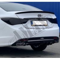 Накладка под задний бампер (диффузор), Хюндай Соната_Hyundai Sonata YF (2010-2014)