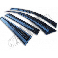 Дверные ветровики аэродинамические в спортивном дизайне на Duster от 2010 +